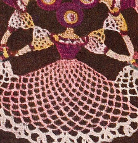 Vintage Crochet Pattern To Make Crinoline Lady Doily Centerpiece Mat