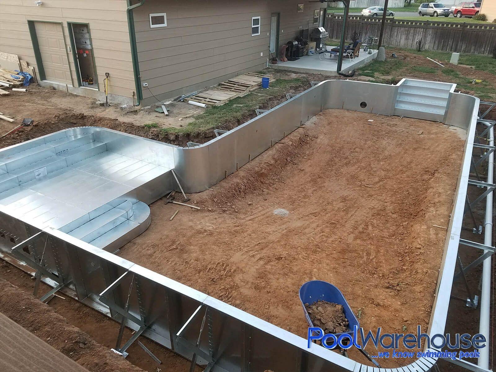Kansas Inground Pool Kit Construction Pool Warehouse In 2020 Diy Swimming Pool Inground Pool Diy Pool Kits