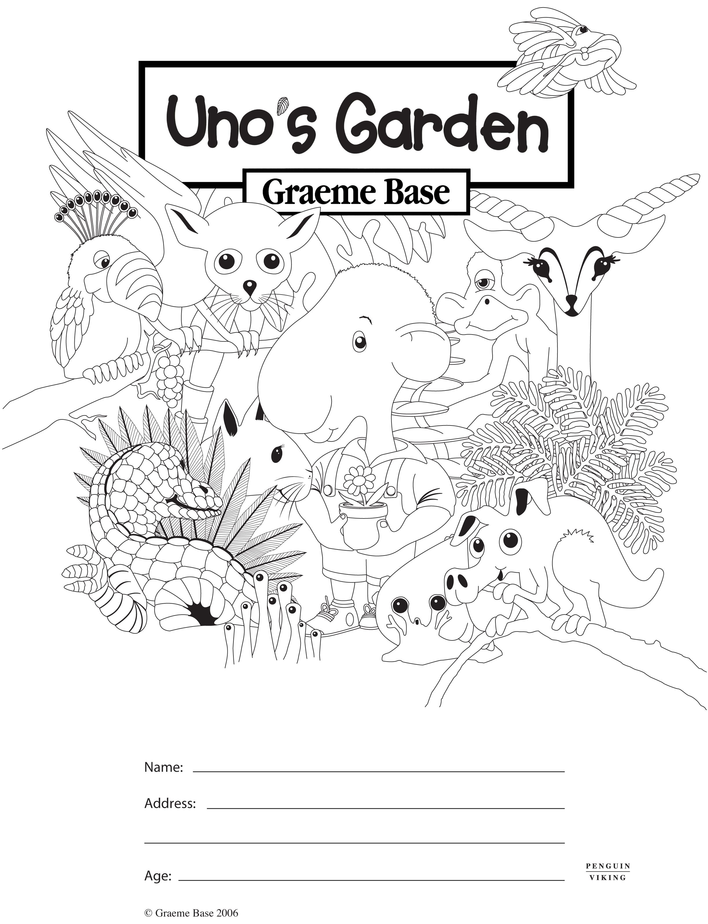 Uno S Garden Colouring In Puffin Files