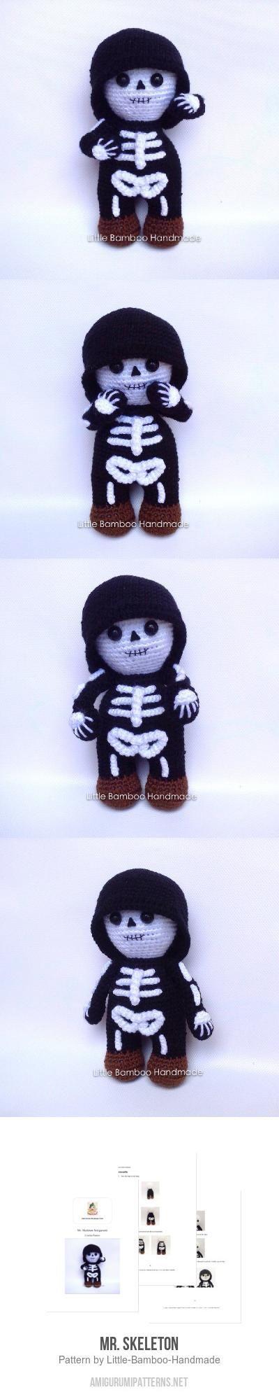 Skeleton Crochet Amigurumi Pattern | Etsy | 1996x400