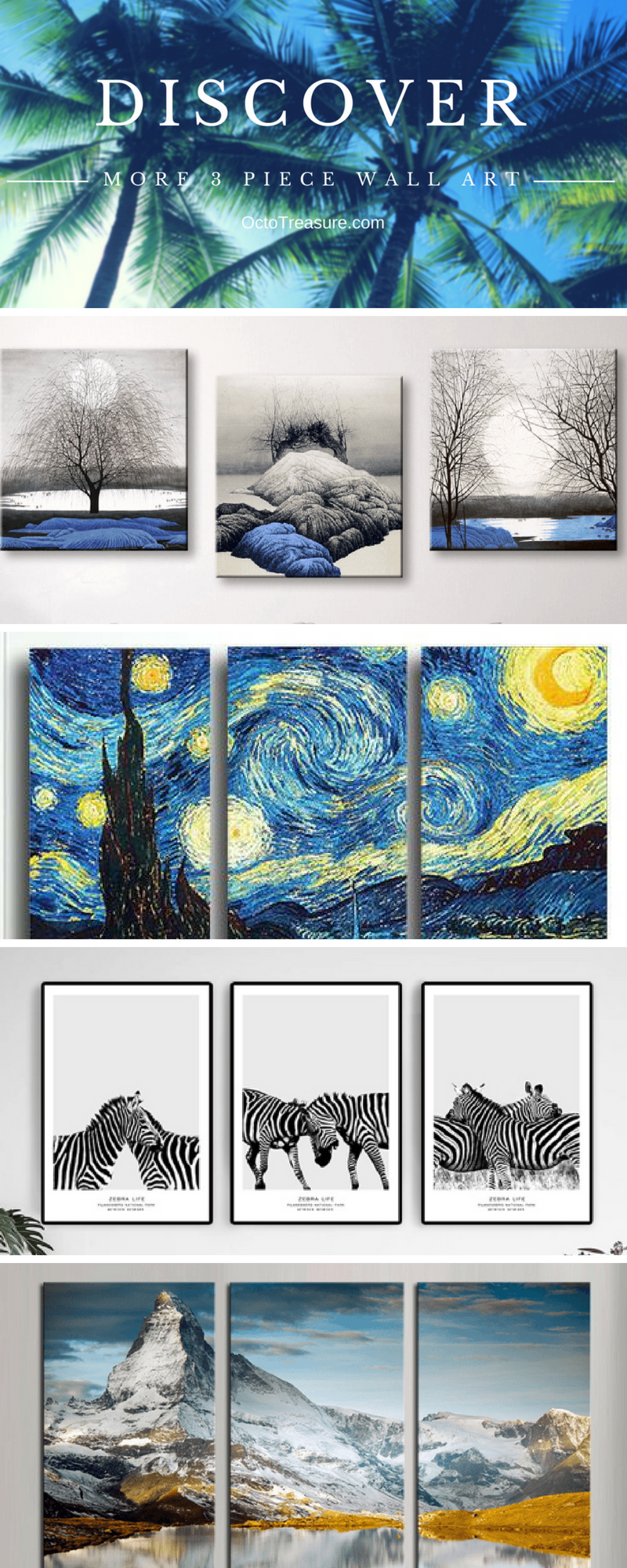 Discover The Perfect 3 Piece Wall Art For Your Home Give A Unique Gift To Your Friends And Family Create A Customi 3 Piece Wall Art 3 Panel Wall Art Wall Art