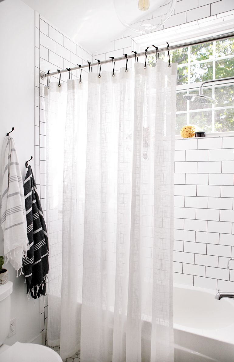 Bathroom Reveal Diy Shower Curtain Black Shower Curtains