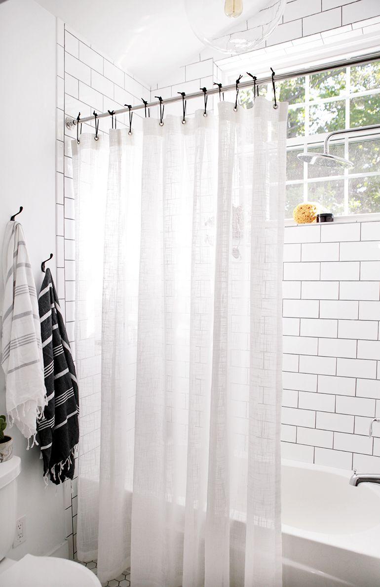 Bathroom Reveal Diy Shower Curtain Black Shower Curtains