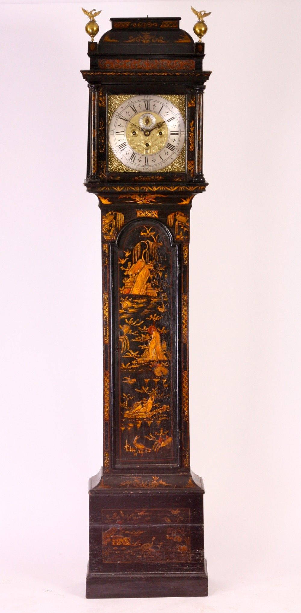 John Green Althorp A Superb Early 18th Century Three Train Musical Chinoiserie Lacquered Long Case Clock