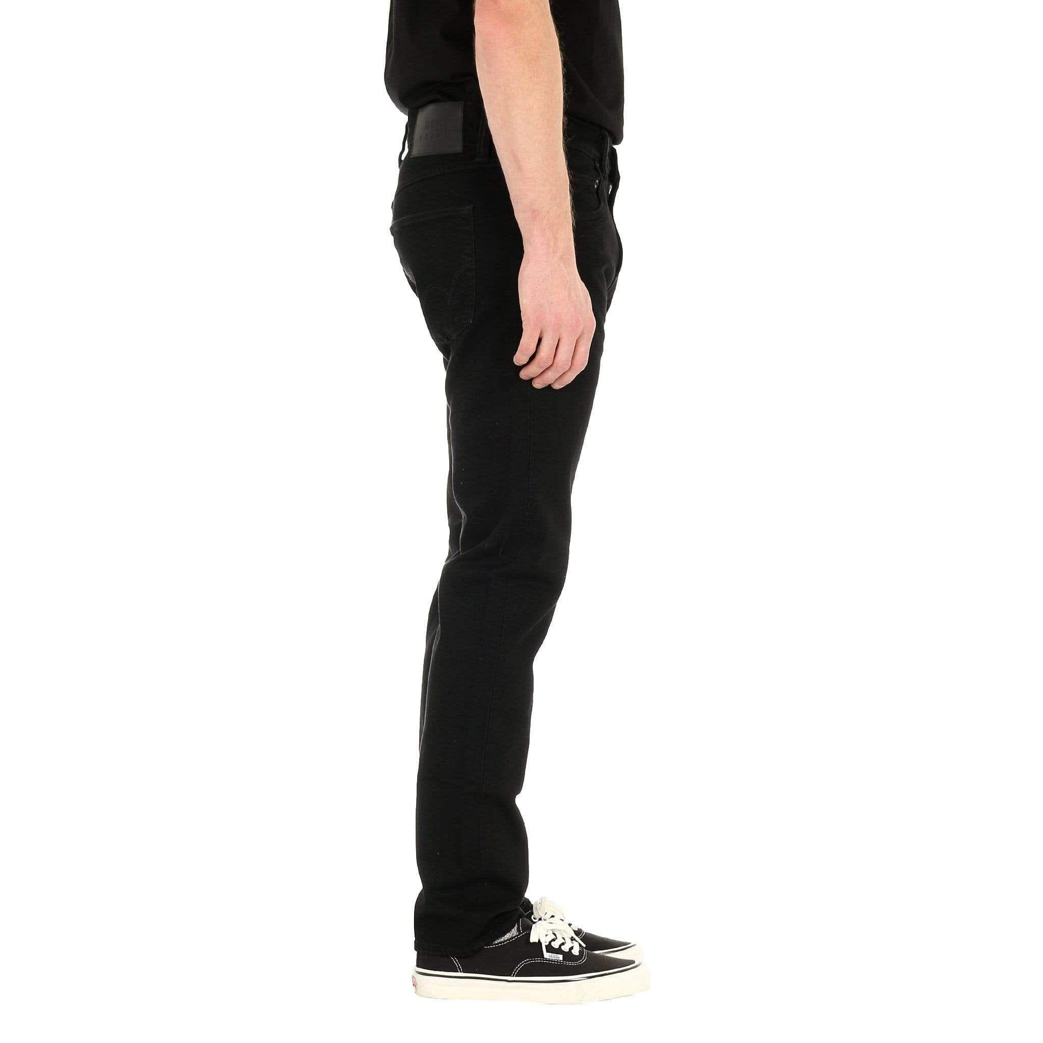 Edwin ED-55 Regular Tapered Mens Jeans CS Power Black Denim Rinsed