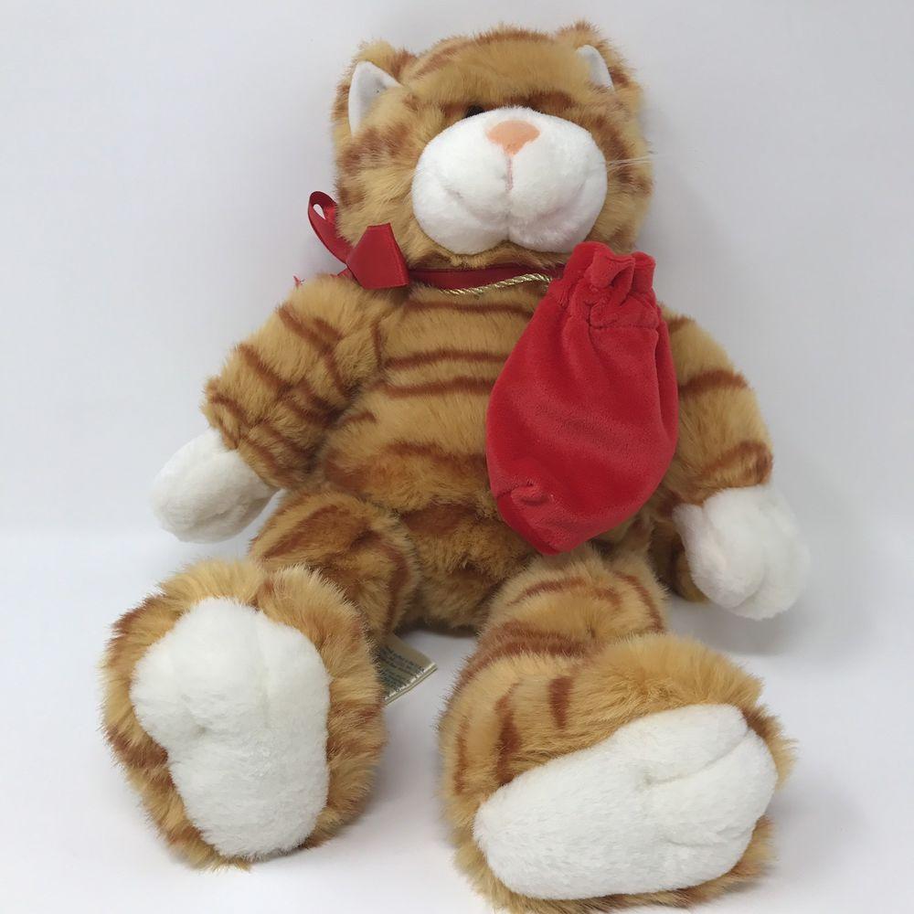 BUILD A BEAR BABW Orange Tabby Kitty Cat