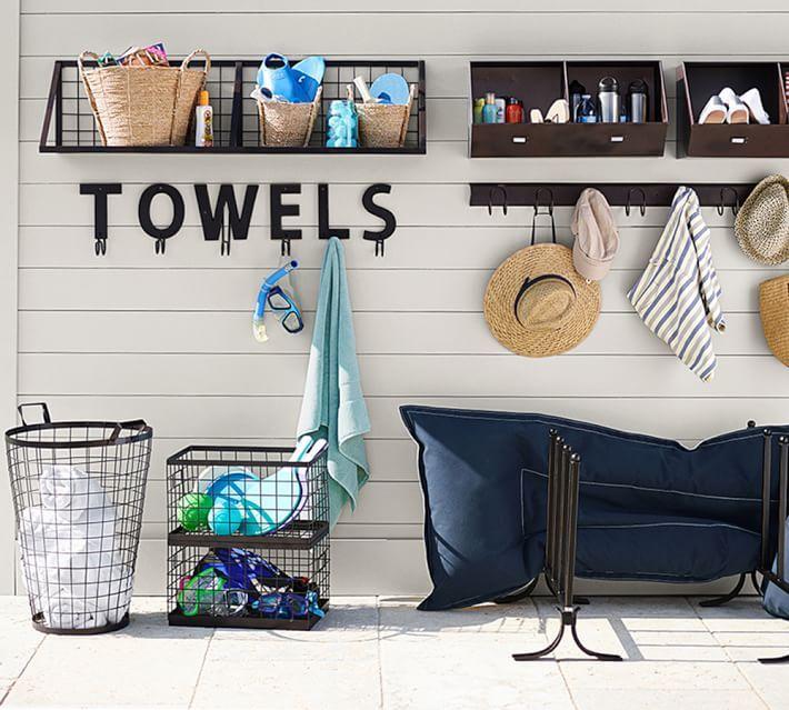 Kellan Wall Mount Shelf Pool Storage Pool Towel Storage