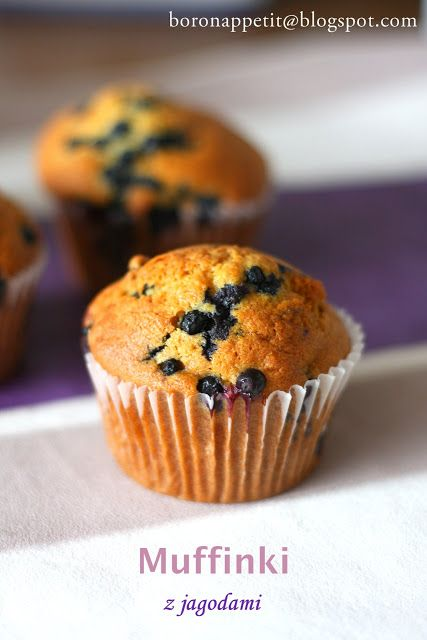 Blog Bo(ro)n Appétit: Muffiny z jagodami