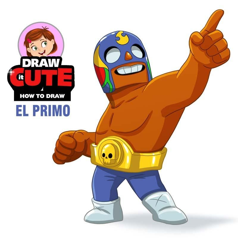 How To Draw El Primo Super Easy Brawl Stars By Drawitcute On