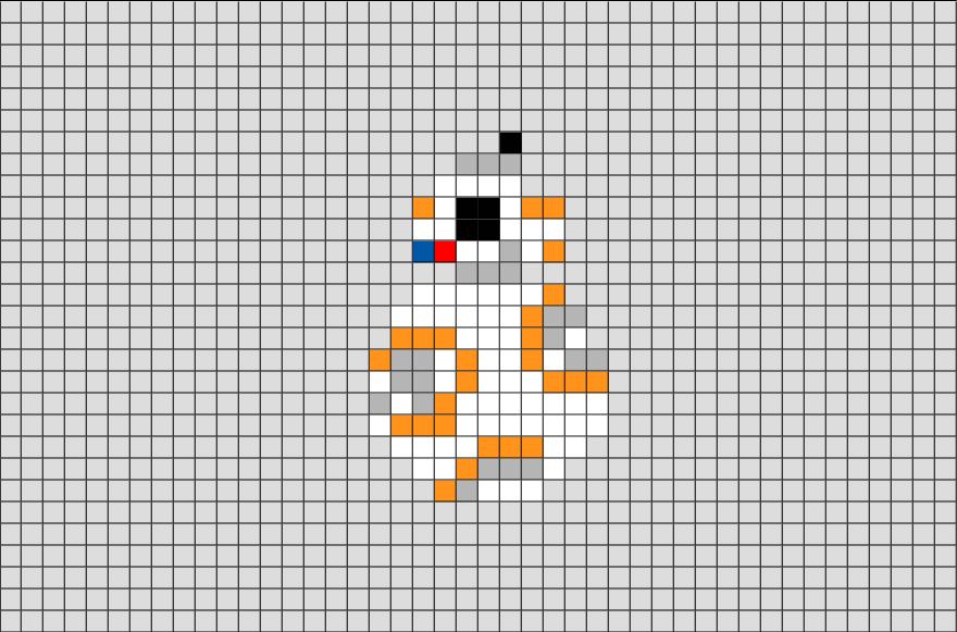 Star Wars Bb 8 Pixel Art Pixel Art Dr Seuss Art Graph