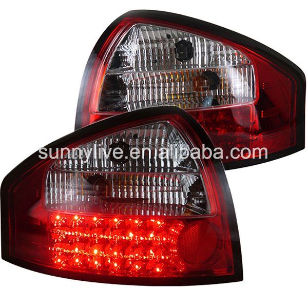For Audi A6 Led Tail Light Rear Lamp 2001 2004 Year Red And White Led Tail Lights Car Lights Tail Light