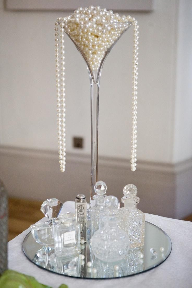 Art deco centerpieces weddings wedding wedding great for Art deco wedding decoration ideas