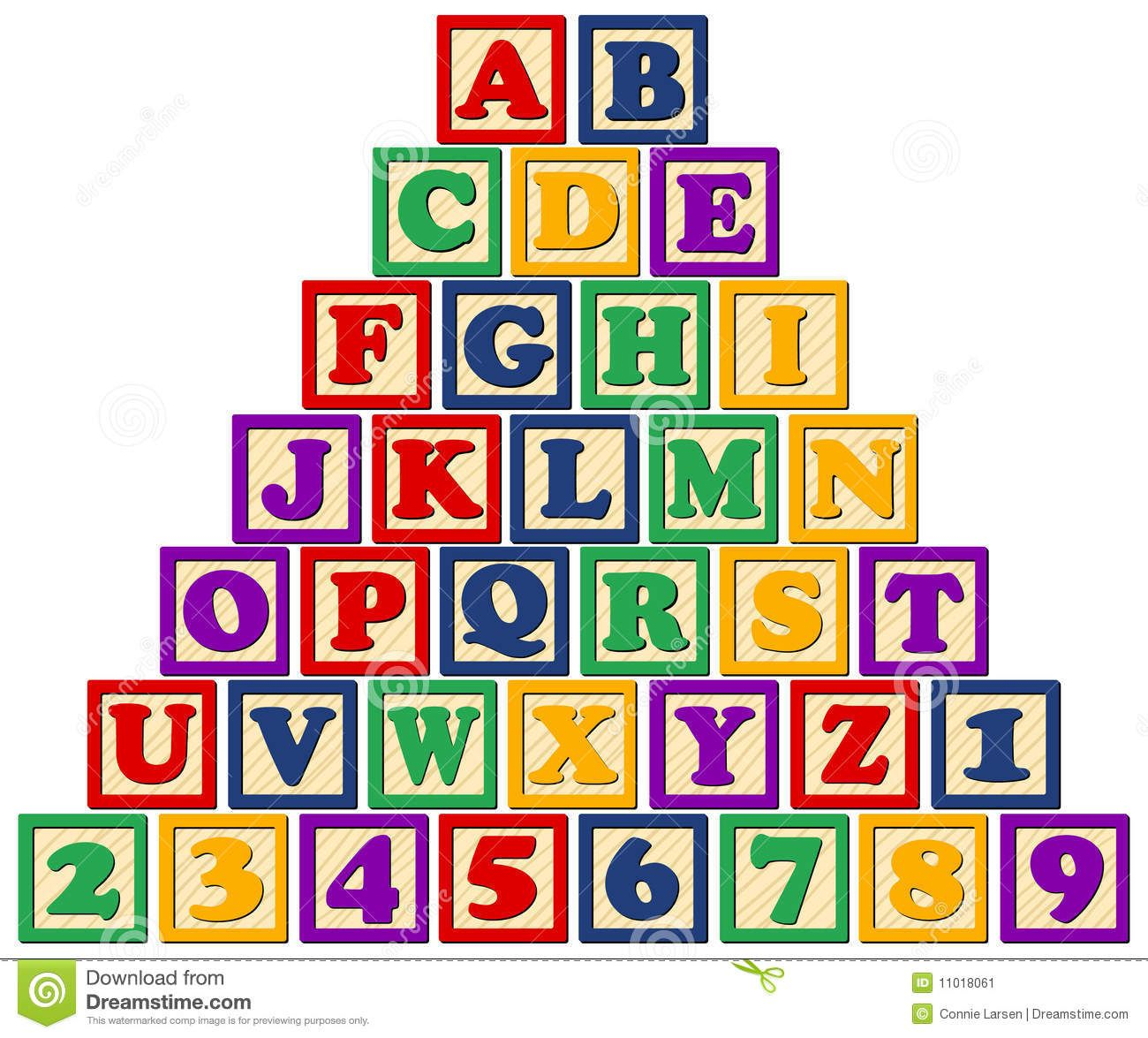 Wooden Alphabet Blocks Eps Stock Vector Illustration Of Blocks