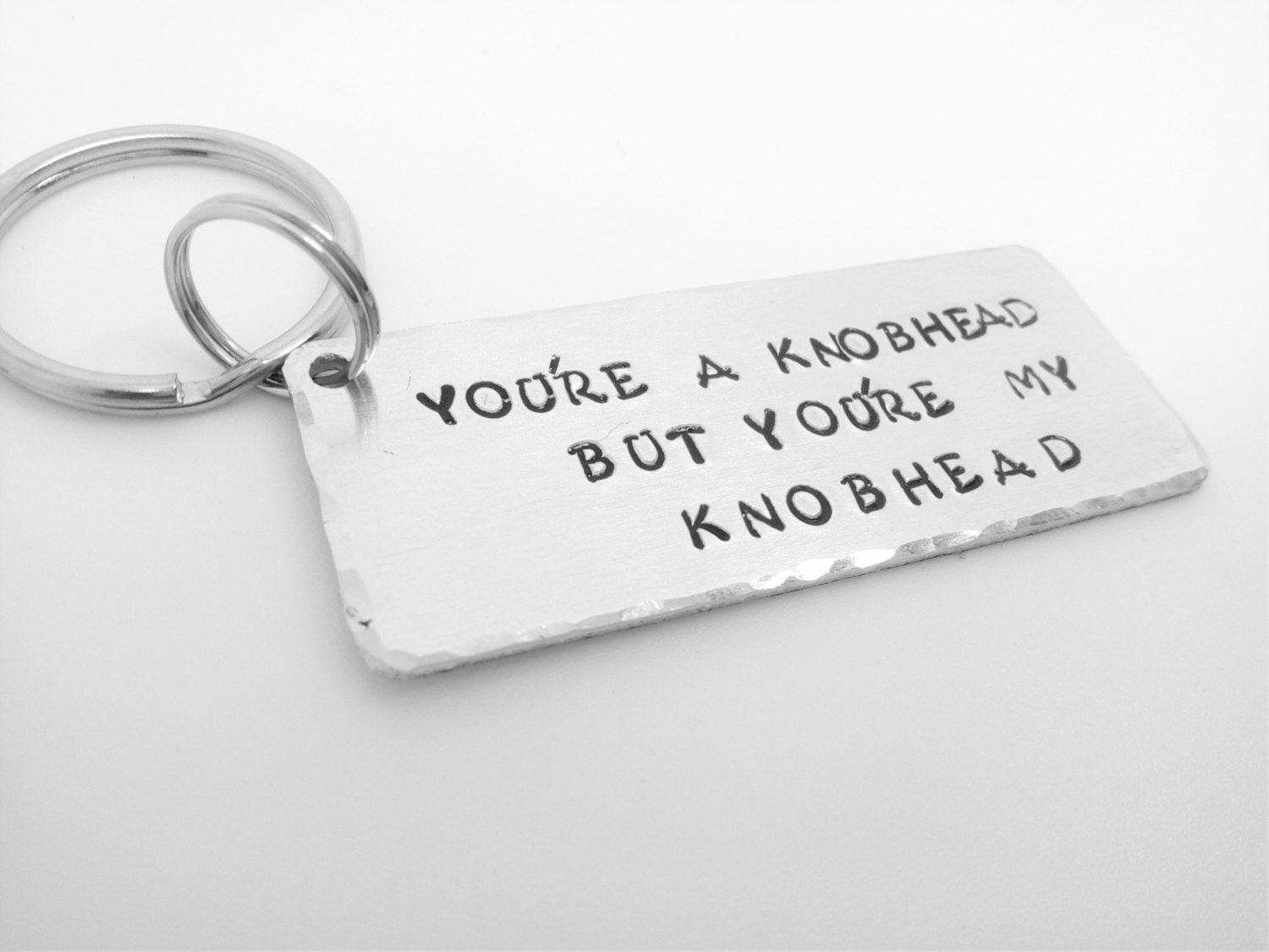Knohead keyring Youre a knobhead but youre my knobhead hand ...