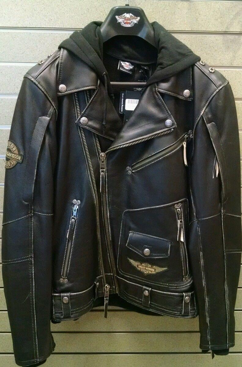 Harley Davidson Men S Rocker 3 In 1 B S Black Leather Jacket 97181 14vm 2xl Leather Jacket Best Leather Jackets Black Leather Jacket [ 1196 x 791 Pixel ]