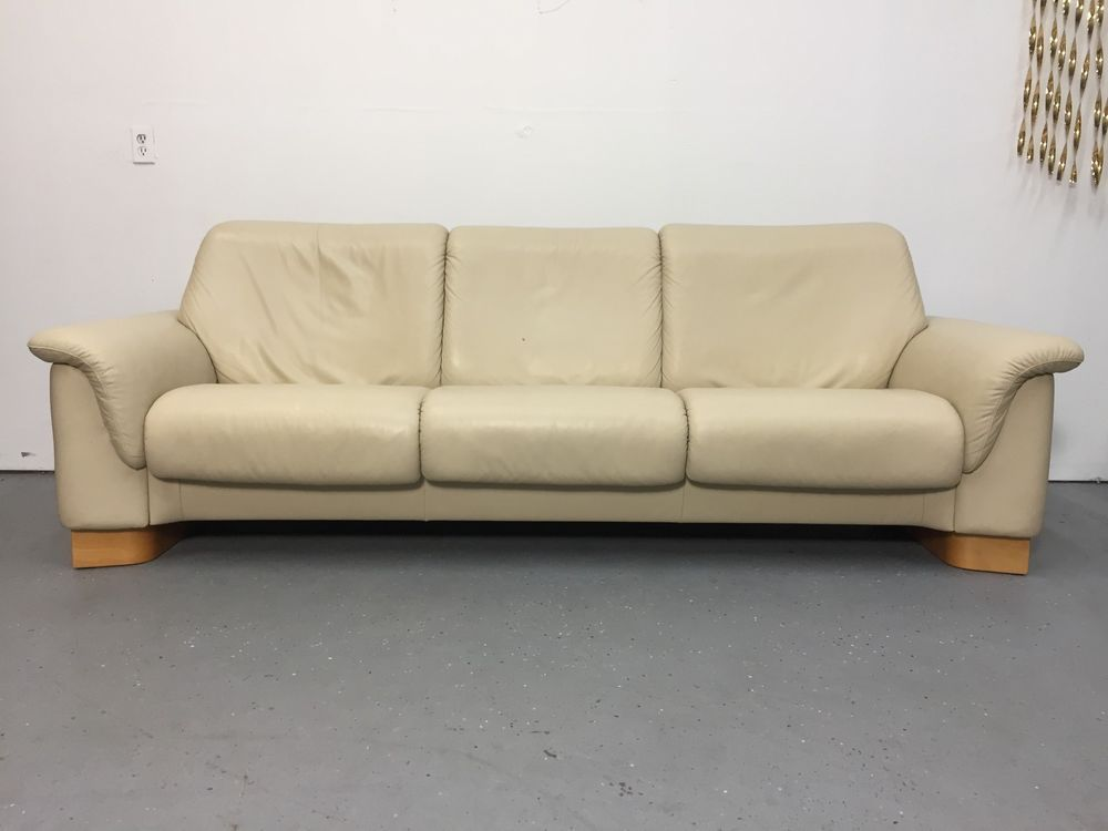 ekornes stressless leather reclining large low back 3 seater