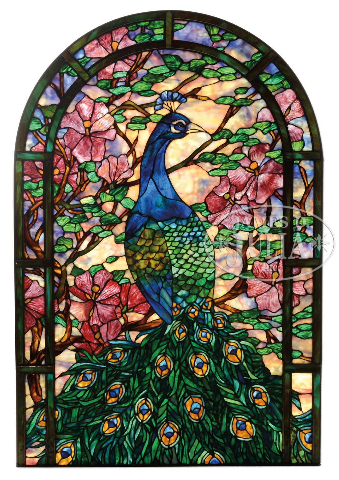 Stained Gl Pea Contemporary Window Green Art