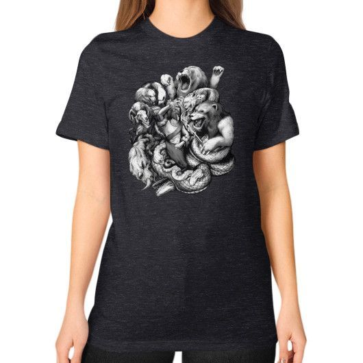Fight the Good Fight Unisex T-Shirt (on woman)
