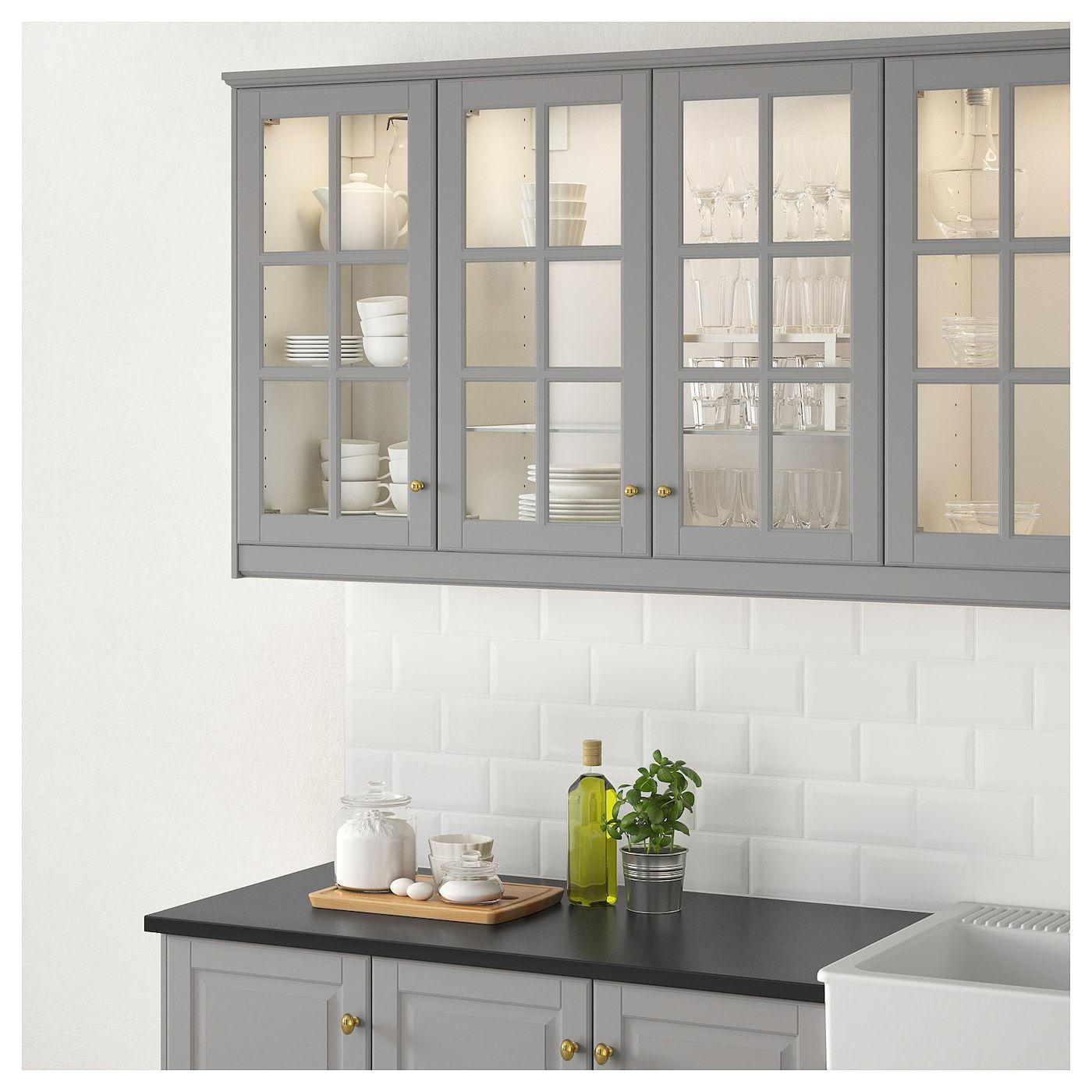Best Ikea Bodbyn Gray Glass Door In 2020 Kitchen Design New 400 x 300