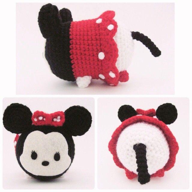 Minnie Mouse Tsum Tsum ~ #amigurumi #crafts #crochet #Disney #DIY ...