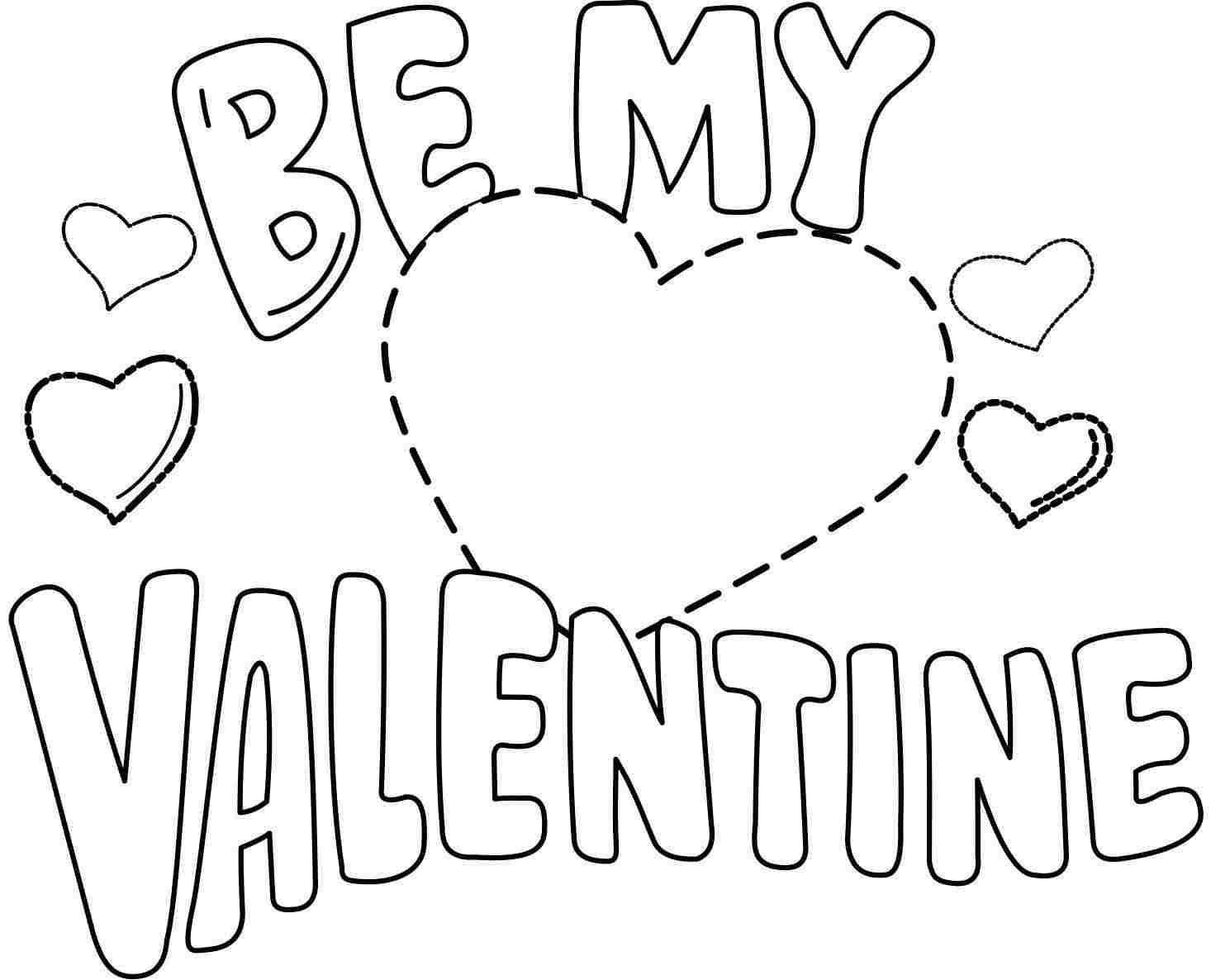 Valentine Coloring Be My Valentine Coloring Page Printable Be My