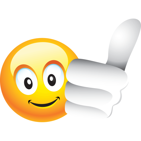 Thumbs Up Smiley Emoticon Emoji Characters