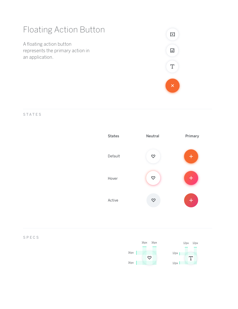 Eb Floating Action Button Floating Material Design Web Design