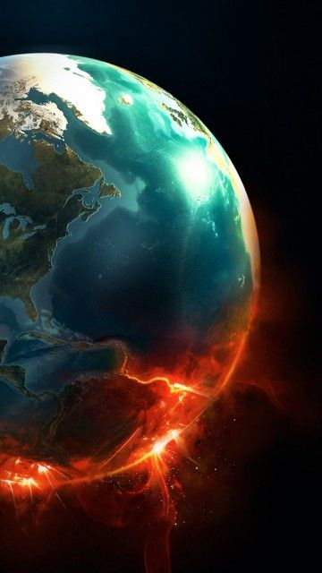 Earth Planet Explosion Android Wallpaper Planets Wallpaper Wallpaper Earth Galaxy S8 Wallpaper
