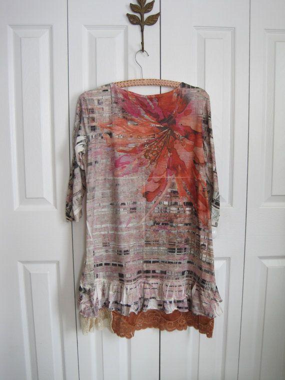 Boho mini dress Rustic mini dress rustic tunic by ShabyVintage, $42.90