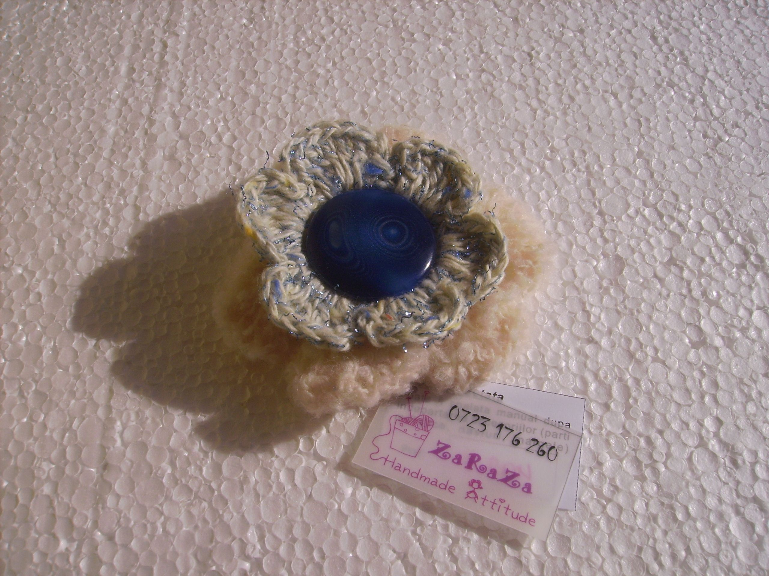 pin brooch flower com crocheted brosa crosetata floare s facebook