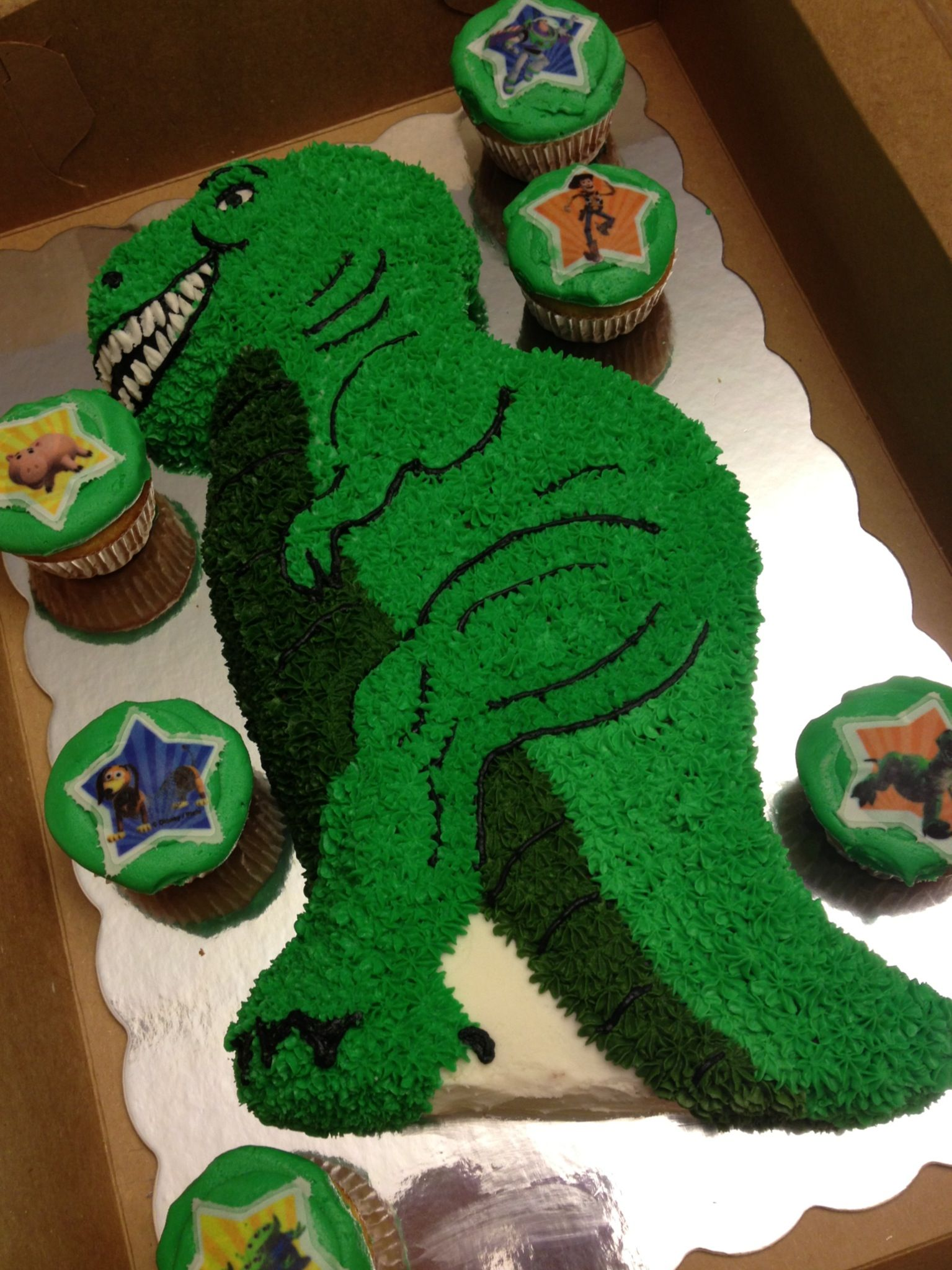 Rex For Toy Story Party With Images Dinosaur Birthday Cakes