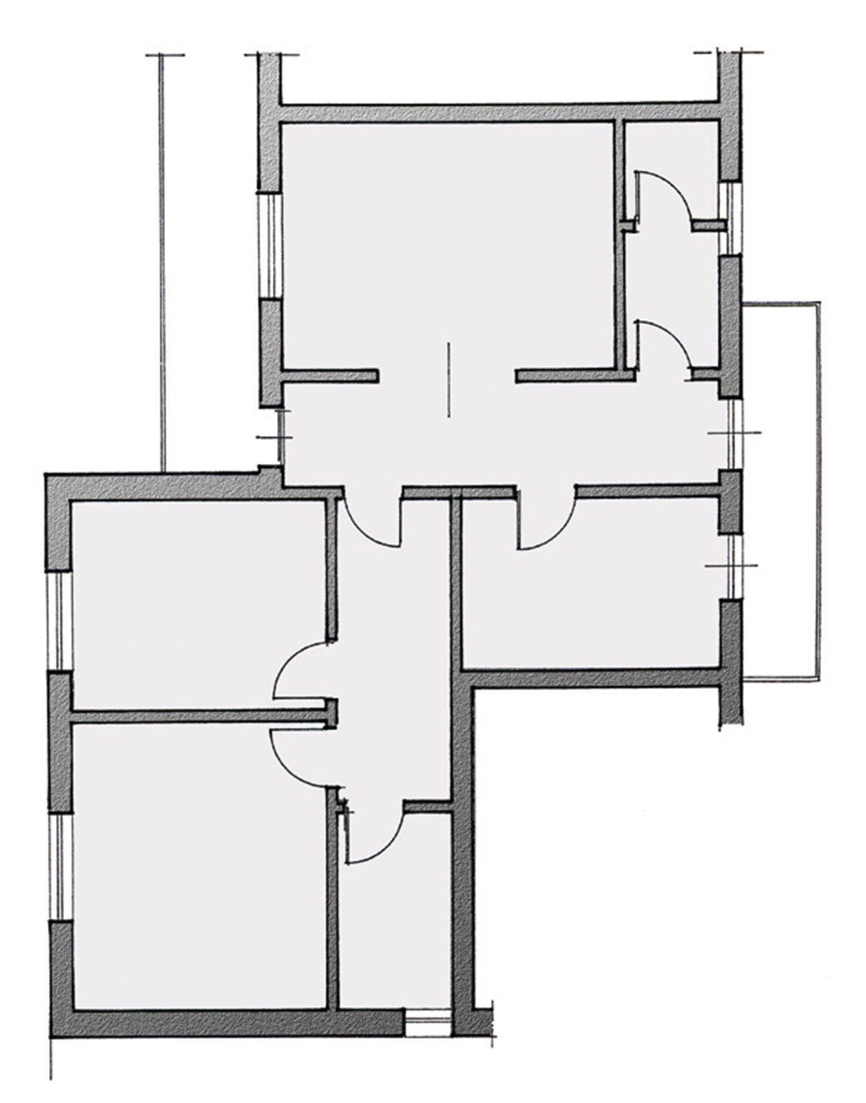 Progetto Bagno 3 Mq l'antibagno che fa da lavanderia. planimetria bagno 3,5 mq