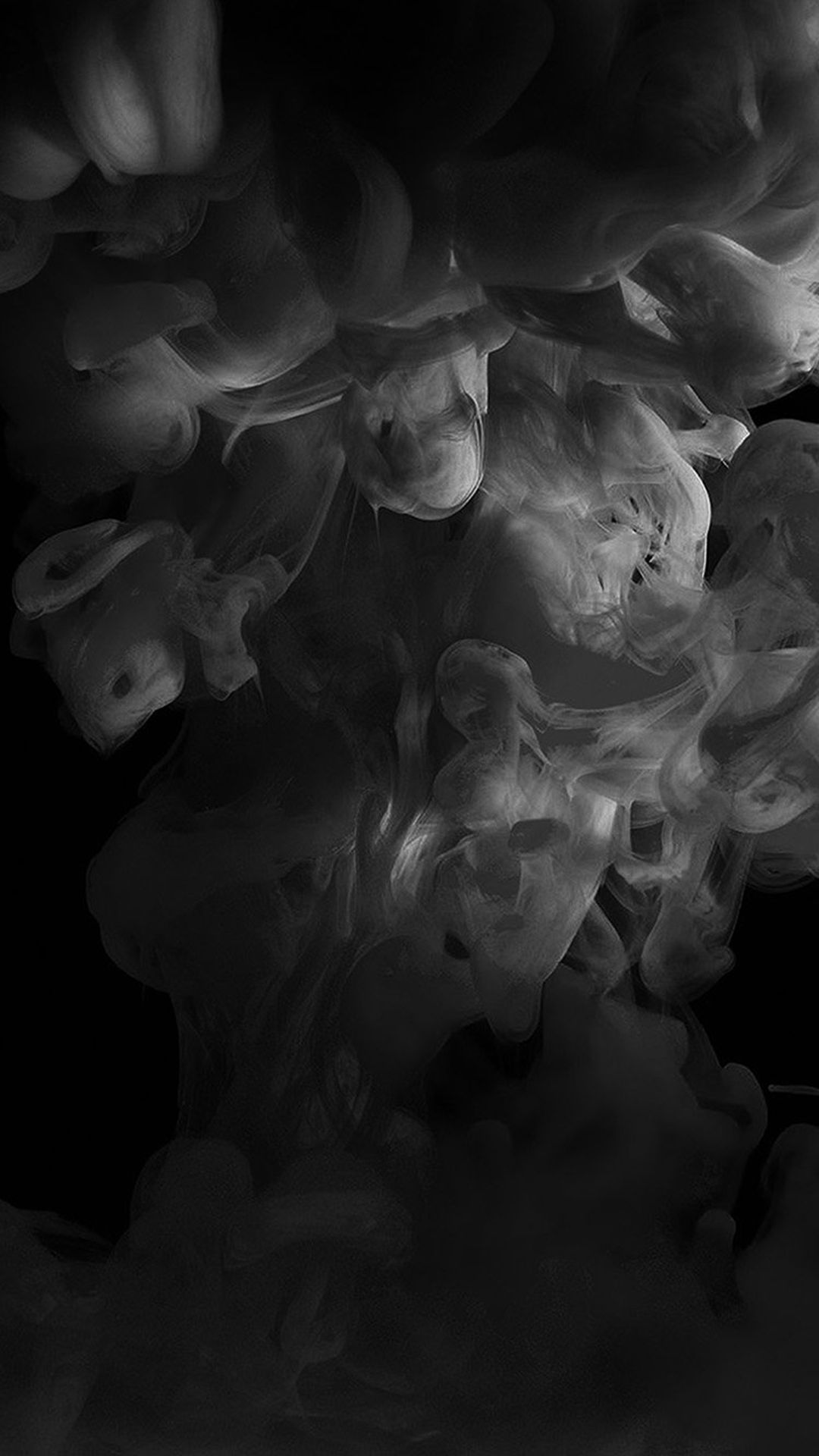 Smoke Dark Bw Abstract Fog Art Illust Iphone 8 Wallpapers Iphone