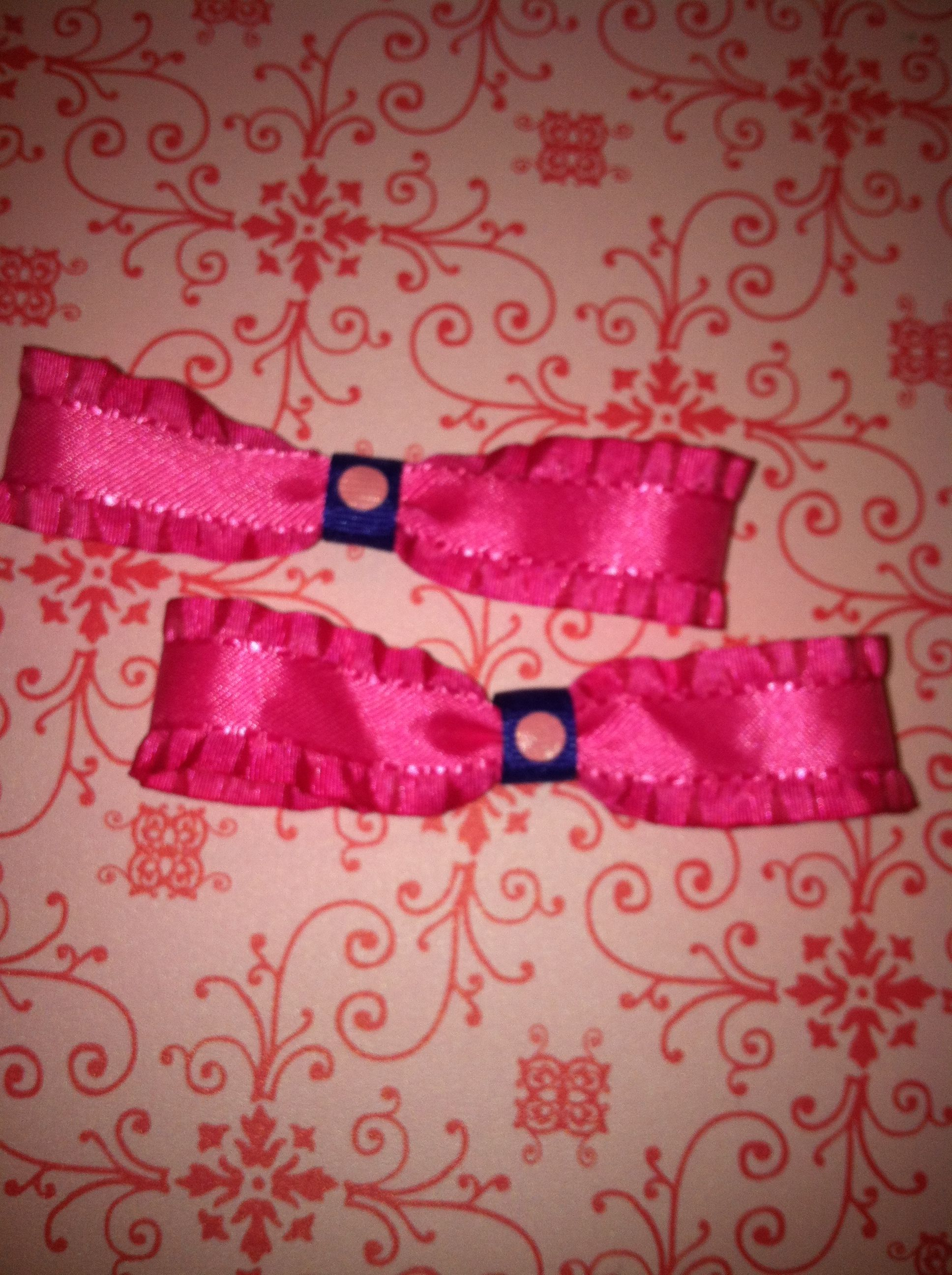 Pink ribbon hair bow vonnieus creations pinterest ribbon hair