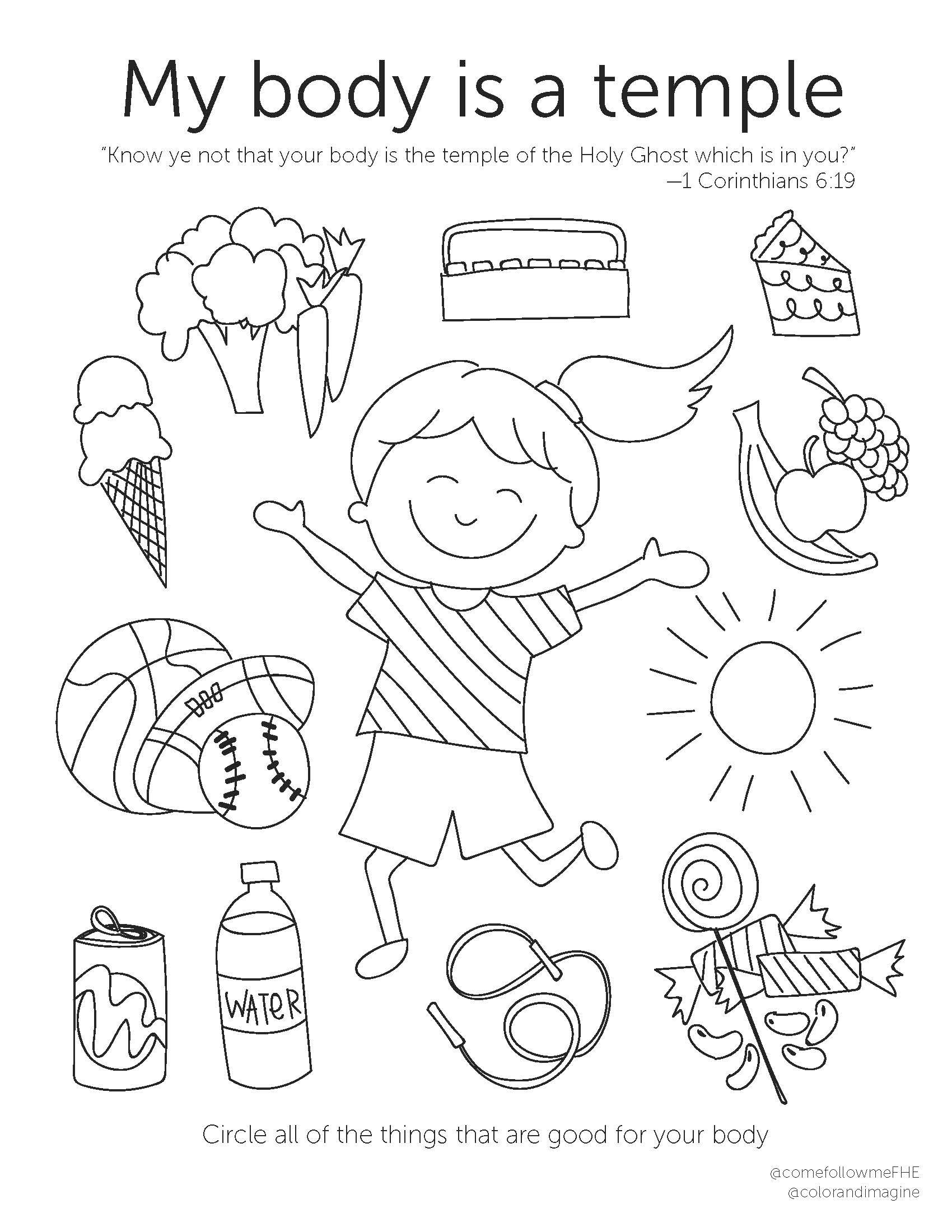 August 19 August 25 Come Follow Me Lesson For Kids Be Perfectly Joined Together Come Follow Me Fhe Lds Coloring Pages Lds Primary Lessons Lds Primary Lesson Helps