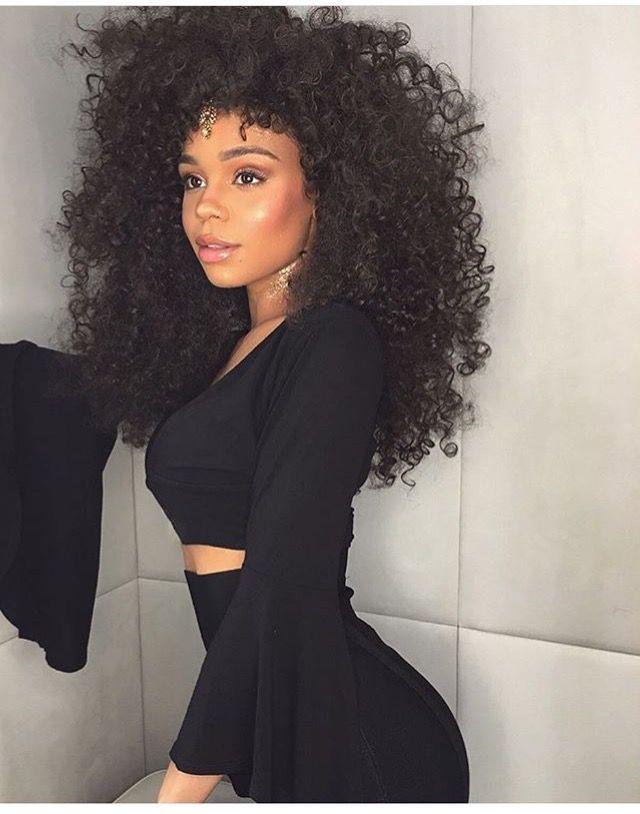 Kira Long Curly Afro Natural Hair Hair Styles Natural Hair Styles Curly Hair Styles Naturally