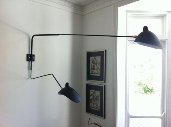 Serge Mouille Two Arm Wall Light Replica Lampade Luci
