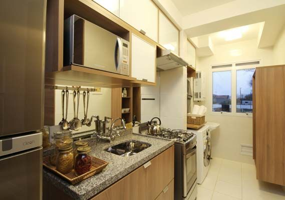 21 Cozinhas Pequenas Integradas Com A Área De Serviço! Design ComCasa  CleanMaltaSmall SpacesInterior DesignCleansesKitchen IdeasDining ... Part 75