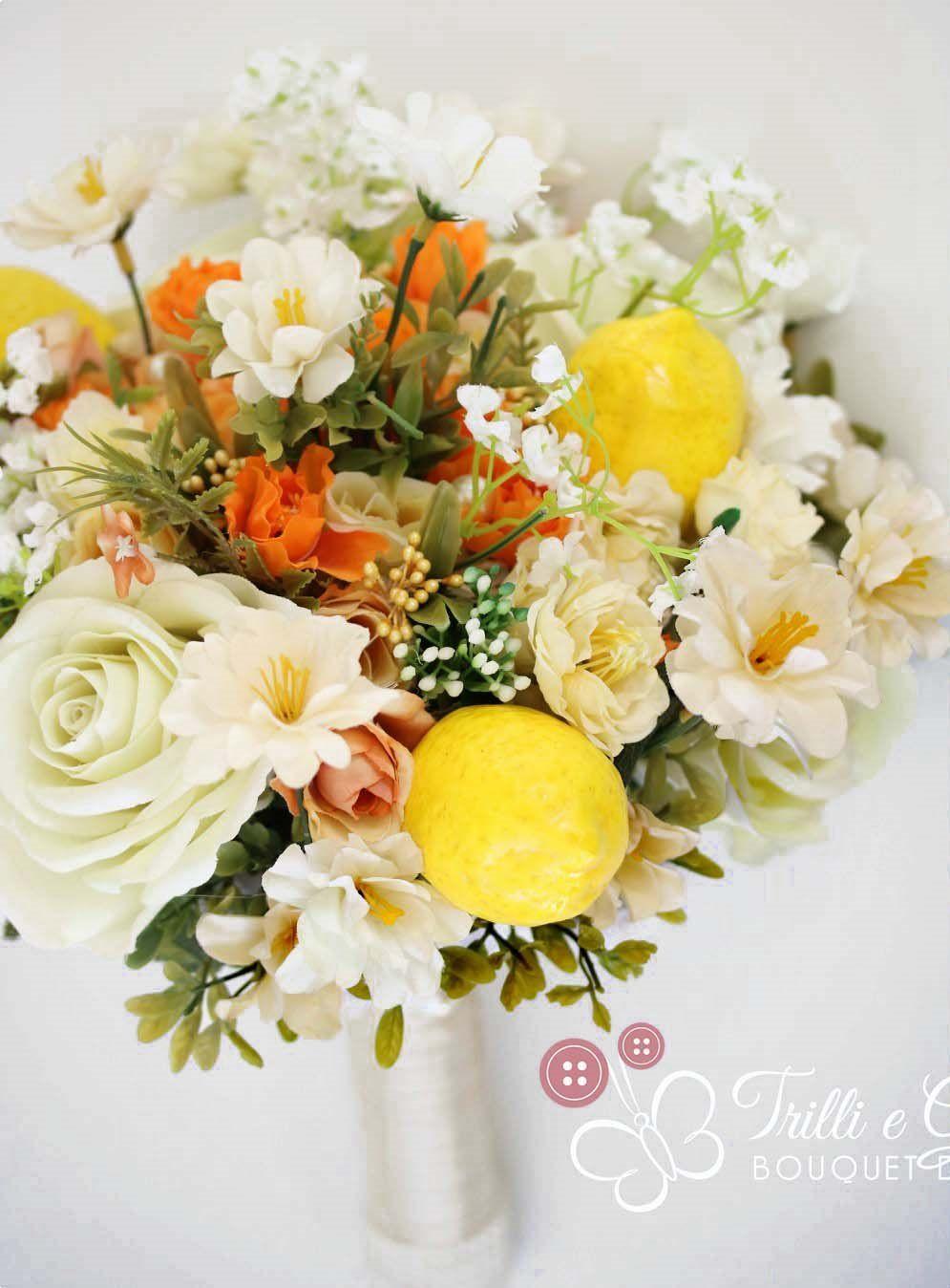 Bouquet Con Frutta Limoni Matrimoni A Tema Matrimonio Bouquet