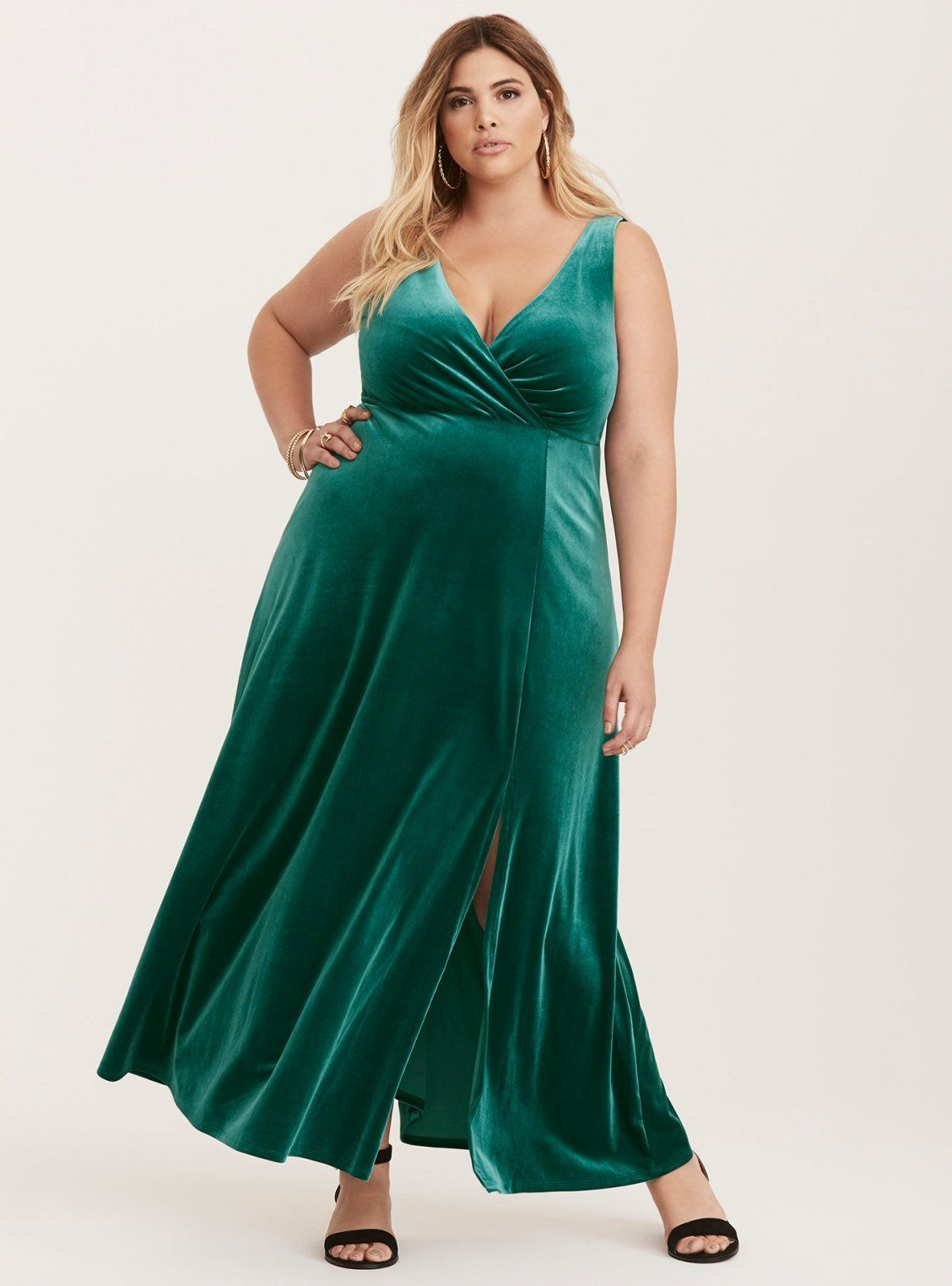 90fa6c0fd747 Velvet High Slit Maxi Dress   Plus Size   Holiday   Torrid