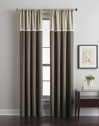 Accolade Color Block Curtain Panel Color Block Curtains Color