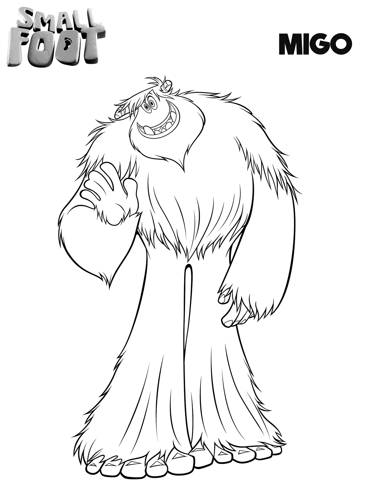 Smallfoot Coloring Pages Printable Migo Printable Coloring Pages Coloring Pages Cartoon Coloring Pages