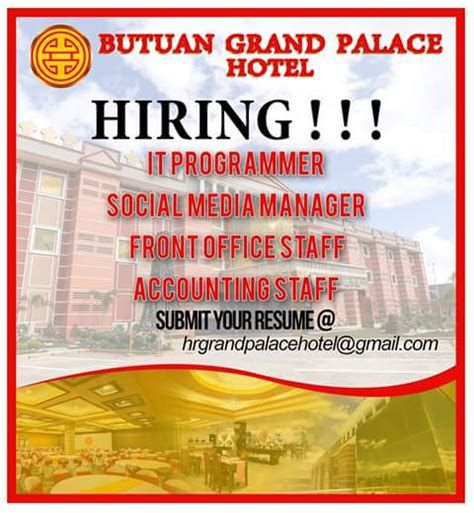 cashier resume butuan grand palace hotel archives