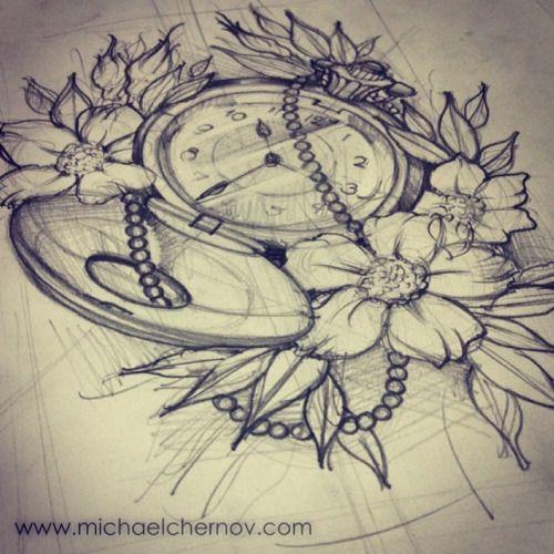 Clock Drawing Tumblr Google Search Tattoos Random Ideas