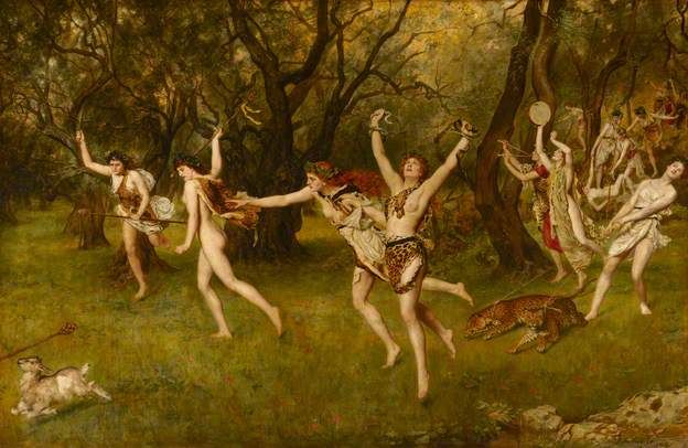 Image result for maenads and odysseus myth in renaissance painting
