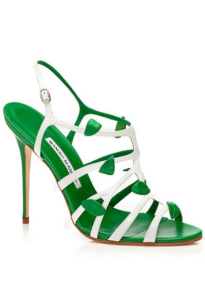 I love these 2014 Manolo Blahnik. Would be so cute to wear to dinner on a hot summer night.