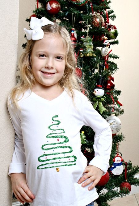 Easy Christmas Tree Shirt For Kids Christmas Shirts For Kids Diy Christmas Shirts Christmas Tree Shirt