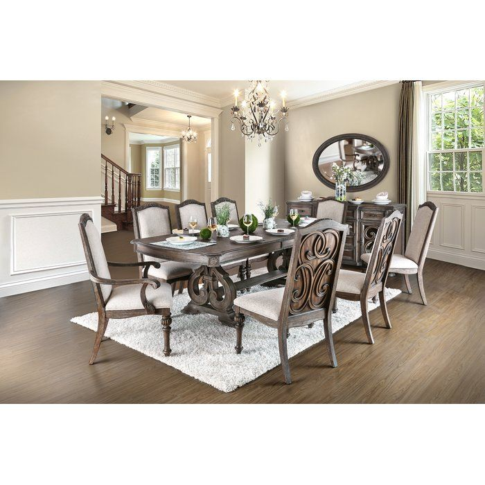 25 Elegant And Exquisite Gray Dining Room Ideas: Abbottstown 9 Piece Dining Set