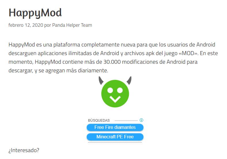 Descarga El Archivo Apk De Happymod Avisos De Seguridad Desarrolladores Aplicaciones Android