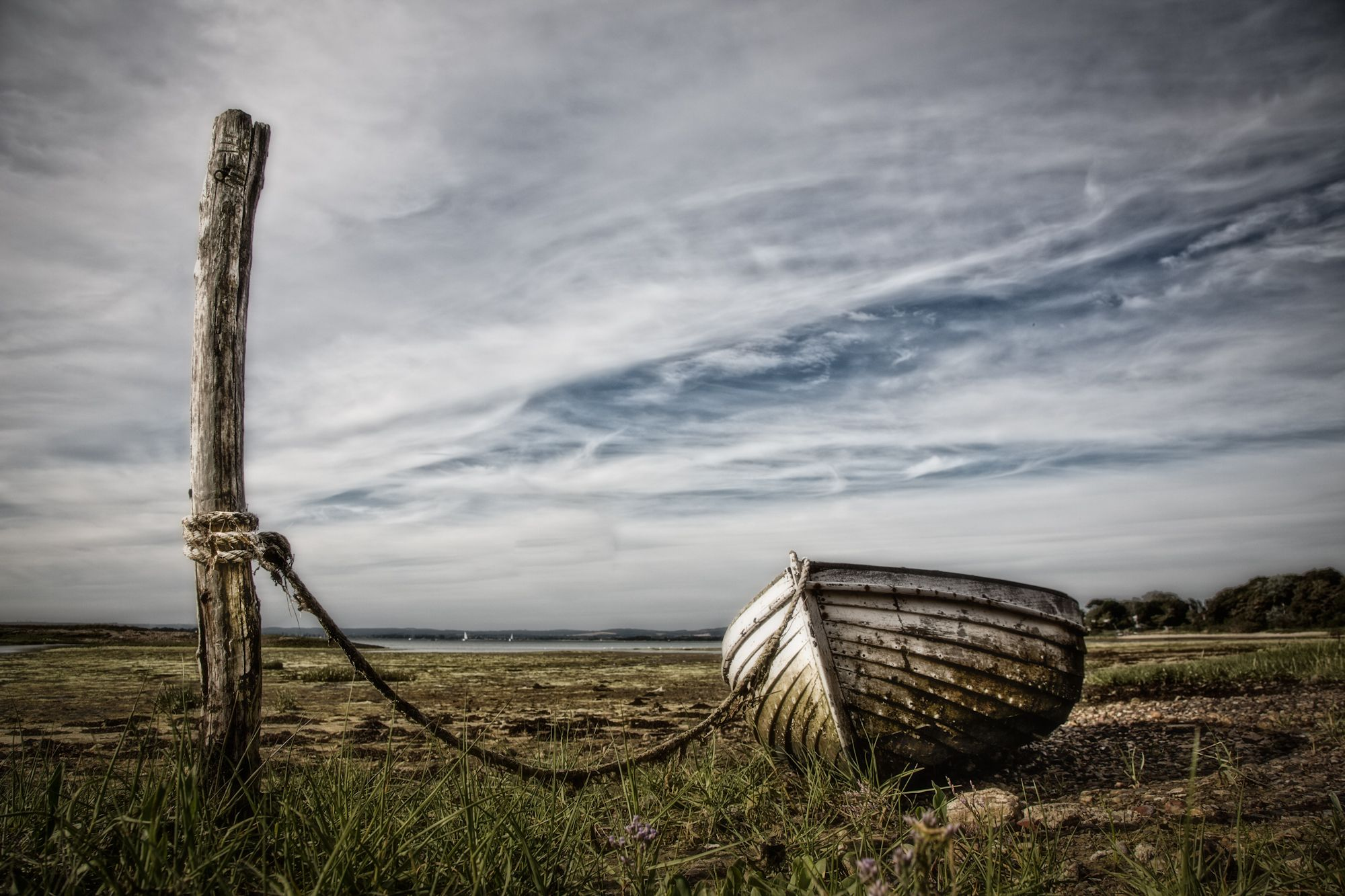 Old Rowing boat abandoned in West Wittering